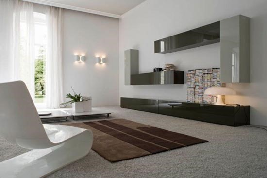 Minimalisme. kleuren meubilair accesoires schilderwerken maestro